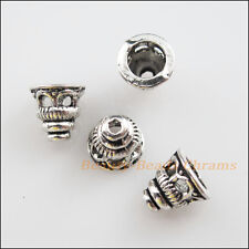 35Pcs Tibetan Silver Tone Tiny Hollow Cone End Bead Caps Craft DIY 7.5mm