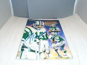 Joe Namath Signed Legends Sports Magazine N.Y. Jets Autographed PSA/DNA COA 1A