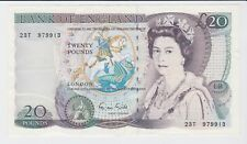 BANK OF ENGLAND SHAKESPEARE £20 TWENTY POUNDS BANKNOTE SIGNED GILL SUPERB
