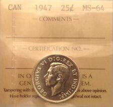 1947 25CENT ICCS MS64