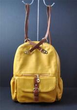 Stanford Style Backpack Laptop Quality Vegan Faux Leather Gold Yellow G7