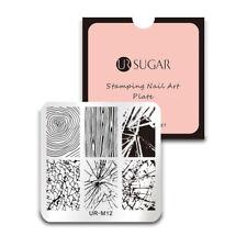 UR SUGAR Nail Art Stamping Plates Manicure Template Stripe Line Cobweb Crack M12