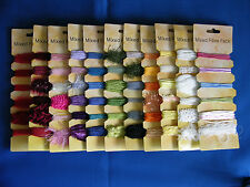 11 packs of Assorted Types  Mixed Fibres,181.5 mtrs e-crafts quality & Colours