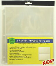 30 pages (THREE PACKS) of Unigrade 2 pocket pages for Large Currency