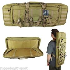 "NEW! Tactical TAN 36"" Padded Carbine Double Rifle Gun Case Backpack CVDC2946T-36"