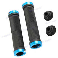 2x NEW Anti-slip Lock-on Bicycle Road MTB BMX Bike Handlebar Handle Grips Blue