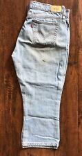 Womens LEVIS 515 CAPRI 33 x 22 Blue Denim Jeans Cotton Levi