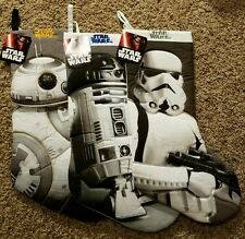 Star Wars Christmas Stocking lot of 3 Stormtrooper, BB-8, R2D2 NWT New