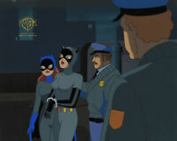 Batman Animated Series Original Production Cel Batgirl+Catwoman-Batgirl Returns
