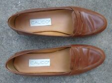 women's Calico brown leather loafer shoes size 7 1/2 M