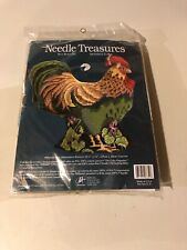 Needle Treasures Needlepoint Kit, Rex Rooster, 11.5 x 11 Unopened- Hole In Front
