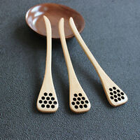Bionic Natural Wooden Honey Dipper Drizzler Server Mixing Stick Spoon Healthy TO