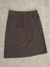 Women's Talbots Brown Stretch Denim A-line Skirt size 2