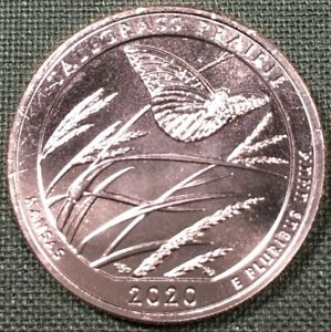 2020 S United States ATB Tallgrass Prairie Quarter - KM#723 - From Mint Bag 0041