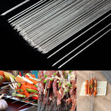 100x Stainless Steel Yard BBQ Party Needles Sticks Outdoor Barbecue Skewer Grill