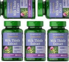 "PURITAN'S PRIDE(US MADE) Milk Thistle-Silymarin - 1,000mg softgels  5x180"""