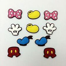 Mickey Hand Caps Shoe Charms Decoration Fit Croc Jibbitz Kids Gifts 10pcs