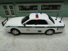 GREEN LIGHT POLICE FORD CROWN VIC LAW ENFORCEMENT U.S. FORESTRY CUSTOM UNIT