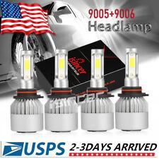 9005+9006 Combo 240W 24000Lm Cree Led Headlight Kit High Low Beam Light Bulbs 4x (Fits: Dodge)