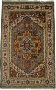 Handmade Serapi Heriz Oriental Rug 4X6 Vintage Style Tribal Home Decor Carpet