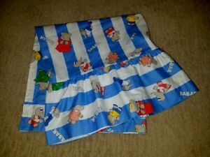 NoJo Babar Elephant Curtain Window Valance 57x29 Cloth Ruffle Baby