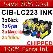 12 Ink Cartridges For Brother LC223 MFC-J4420DW J4620DW J4625DW DCPJ4120DW