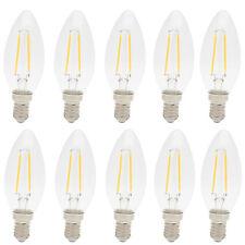 10er E14 LED Lampe 2W Filament Gluehfaden LED Birne Lampe Kerzenform Warmweiss