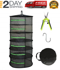 HOT 6 Layer Food Dehydrator Rack Tray Hanging Solar Jerky Meat Beef Fruit Herb