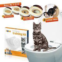 Cat Toilet Seat Training Kit Litter Tray Potty Train Kitty System with Catnip