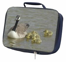 More details for canadian geese and goslings navy insulated school lunch box bag, ab-g1lbn