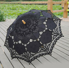 Chic Lady Vintage Handmade Cotton Parasol Lace Sun Umbrella Bridal Wedding Party