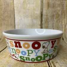 Peanuts Snoopy Round Pet Bowl Dish Classic Typography Spell Out Toy Dog Cat Size