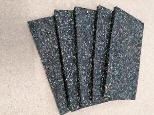 Gummi- Antirutschmatten Ladungssicherung 5 St. Gummipads(ca.L20 x B10 x H 0,8cm)