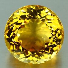 LARGE 12mm ROUND-FACET NATURAL BRAZILIAN GOLDEN CITRINE GEMSTONE (APP £321)