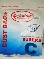 New Eureka C Canister Vacuum Cleaner 3 Dust Bags #817SW EnviroCare Technologies
