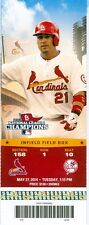 2014 Cardinals vs Yankees Ticket: Lance Lynn 1st complete game shutout 5 hitter