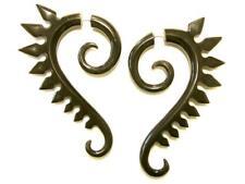 Tribal Tattoo Rocker Faux Tapers Horn Fake Expander Cheater Earrings Unisex 2.25