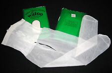 "LOT 2 COLLANT T 1 FRANCE ""WATOO"" NYLON LYCRA VOILE FIN BLANC LINGERIE SEXY CHARM"
