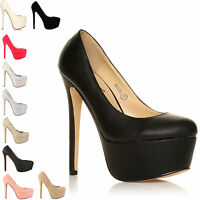 LADIES FASHION HIGH HEELS PARTY PLATFORM WOMENS SHOES SIZE 3-8