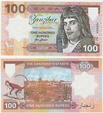 Zanzibar 100 Rupees 2018 UNC SPECIMEN Polymer Test Note Banknote Freddie Mercury