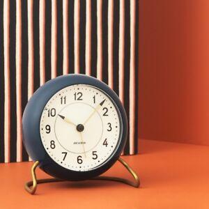 Rosendahl Arne Jacobsen table desk clock alarm petrol blue Station danish design