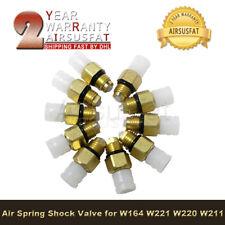 10Pcs Air Suspension Spring Shock Brass Valve for W164 W221 W220 W211 1663200204