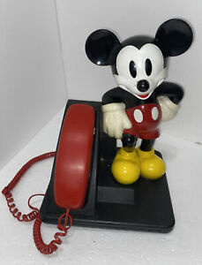 Vintage  Disney Mickey Mouse Corded Land Line Touch Tone Telephone 1996 Un