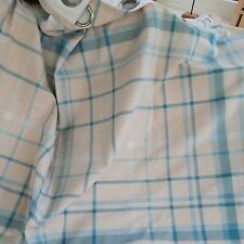 Dunelm Blue and White Check Eyelet Lined Curtains W64 X L54 Inches