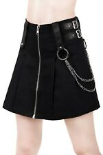 Killstar Nancy Pleated Mini Skirt Black Gothic Punk Rock Alternative NEW