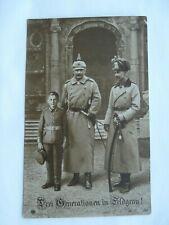 """Three Generation in Field Grey"" Kaiser Wilhelm, WW1 German Patriotic Postcard"