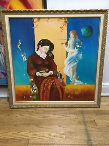 Surrealist Oil Painting by Cristi Toderascu. Original art. Free Shipping in USA