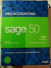 SAGE 50 Pro Accounting 2021 Small Business Accounting Software 1 User