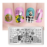 BORN PRETTY Rectangle Nail Stamping Plate  Stamp DIY Thanksgiving-L003