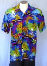 Unknown Maker Large Multi-Color Casual Shirt Bright Colorful Tropical Terivoile